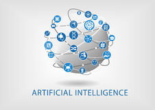 Vector infographic of artificial intelligence concept.