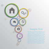 Vector infographic background design. Vector background design with different icons stock illustration