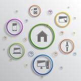 Vector infographic background design. Vector background design with different icons vector illustration