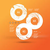 Vector infographic background design Stock Photography
