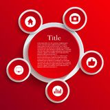 Vector infographic background design. Eps10. See my other works in portfolio Royalty Free Stock Image