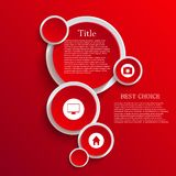 Vector infographic background design. Eps10. See my other works in portfolio Royalty Free Stock Images