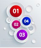 Vector infographic background design. Eps10 Stock Images