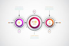 Vector infographic business design template with 3D. Vector infographic business design template with 3D,integrated circles.Business concept with options.For vector illustration