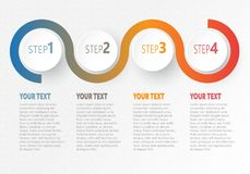 Vector infographic Business for timeline with 4 steps labels. Vector infographic Business element for timeline with 4 steps labels Stock Illustration