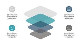Vector infographic, carta del diagrama, presentación del gráfico Plantilla del negocio con las opciones, piezas, pasos, procesos  Imagen de archivo libre de regalías