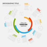 Vector Infographic circular timeline report template Stock Photo