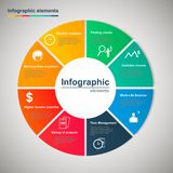 Vector infographic cirkel Royalty-vrije Stock Afbeelding