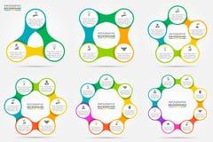 Vector infographic cirkel Stock Foto