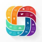 Vector infographic cirkel Malplaatje voor cyclus Stock Foto