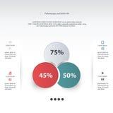 Vector infographic cirkel Malplaatje voor diagram, grafiek, presenta Royalty-vrije Stock Afbeelding