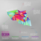 Vector infographic with colorful abstract 3d figure.EPS10. Vector infographic with colorful abstract 3d figure royalty free illustration