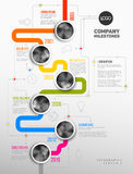 Vector Infographic Company πρότυπο υπόδειξης ως προς το χρόνο κύριων σημείων Στοκ εικόνες με δικαίωμα ελεύθερης χρήσης