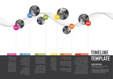 Vector Infographic Company υπόδειξη ως προς το χρόνο κύριων σημείων Στοκ Εικόνες