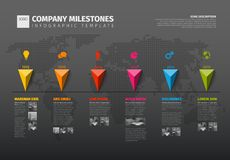 Vector Infographic Company History Timeline Template Stock Photography