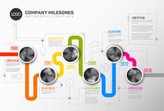 Vector Infographic Company Milestones Timeline Template Royalty Free Stock Photography