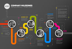 Vector Infographic Company Milestones Timeline Template Royalty Free Stock Images