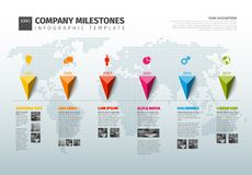 Vector Infographic Company History Timeline Template Royalty Free Stock Photos