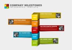 Vector Infographic Company Milestones Timeline Template Stock Photos