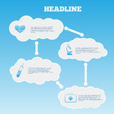 Vector infographic composition with medic and clouds icons vecto Stock Photo