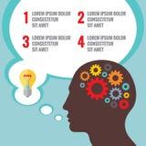 Vector infographic concept met menselijke hoofd en bellen voor presentatie vector illustratie