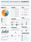 Vector infographic corporativo de la plantilla de los elementos Fotografía de archivo libre de regalías