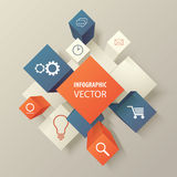 Vector infographic cubes with web icons Royalty Free Stock Images