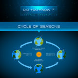 Vector Infographic - Cycle of Seasons Royalty Free Stock Photography