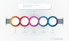 Vector Infographic 3d circle label template design. royalty free illustration