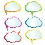 Vector infographic de illustratiewolken van het ontwerpelement Royalty-vrije Stock Foto