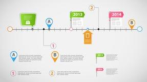 Vector infographic de la plantilla del negocio de la cronología Imagen de archivo libre de regalías