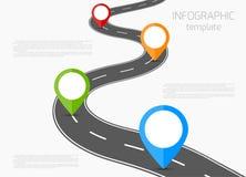 Vector infographic del camino Imágenes de archivo libres de regalías