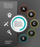 Vector infographic design Royalty Free Stock Photo