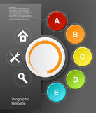 Vector infographic design Stock Image