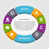 Vector infographic. Design elements. Royalty Free Stock Photography