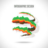 Vector infographic design Royalty Free Stock Images