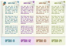 Vector infographic design with four steps. Vector infographic design; suitable for number options or step-up options; business concept with four steps; with Royalty Free Stock Image
