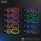 Vector infographic design list with colorful circles. Stock Photos