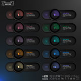 Vector infographic design list with colorful circles. Royalty Free Stock Photography