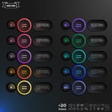 Vector infographic design list with colorful circles. Stock Photography
