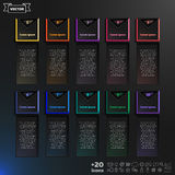 Vector infographic design list with colorful squares. Royalty Free Stock Image