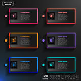 Vector infographic design list with colorful squares. Royalty Free Stock Photo