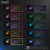 Vector infographic design list with colorful squares. Royalty Free Stock Images