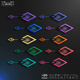 Vector infographic design list with rhomb Royalty Free Stock Photo