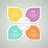 Vector infographic design template. Business concept with 4 options, parts, steps or processes. Can be used for workflow layout, d Royalty Free Stock Photo