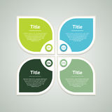 Vector infographic design template. Business concept with 4 options, parts, steps or processes. Can be used for workflow layout, d Royalty Free Stock Photos