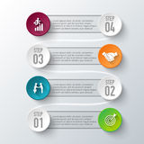 Vector infographic design template. Royalty Free Stock Photos