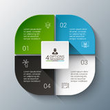 Vector infographic design template. Business concept with 4 options, parts, steps or processes. Can be used for workflow layout, diagram, number options, web Royalty Free Stock Photography