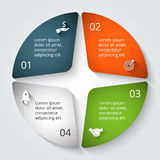 Vector infographic design template. Royalty Free Stock Image