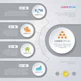 Vector Infographic design white circles stock illustration